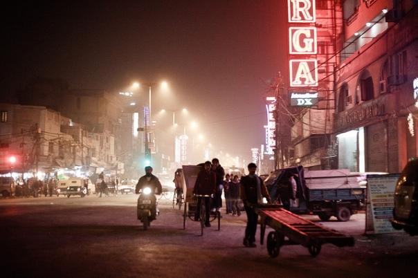 Foggy Delhi Streets
